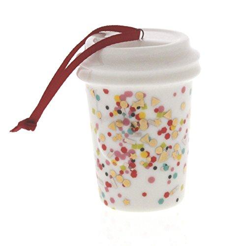 Starbucks Holiday Confetti Cup Ceramic Ornament