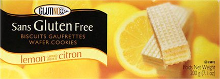 Glutino Wafer Cookies Lemon, Gluten Free 7.1 Oz