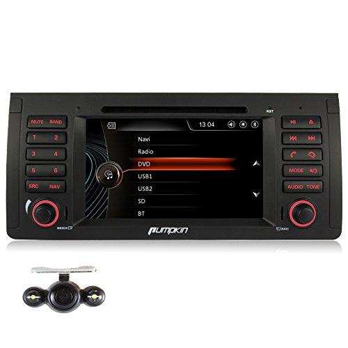PUMPKIN-7-Zoll-1-Din-Autoradio-Moniceiver-fr-BMW-5er-Reihe-E39-M5-X5-E53-Untersttzt-GPS-Navigation-Bluetooth-iPod-Dashcam-mit-Heckkamera
