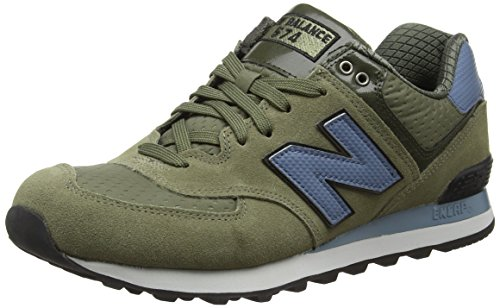 New Balance 574, Scarpe Running Uomo, Multicolore (Green/Blue 344), 43 EU