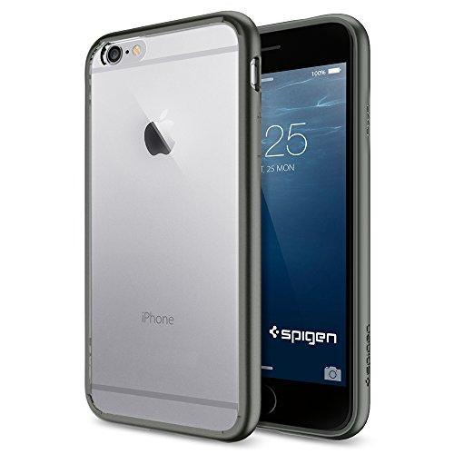 iPhone 6 ケース, Spigen®  [ クリア バンパー] Apple iPhone 4.7 (2014) ウルトラ・ハイブリッド The New iPhone アイフォン6 (国内正規品) (ガンメタル SGP10950)