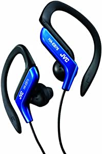 JVC HA-EB75-AE Sports Headphone with Adjustable Clip - Blue