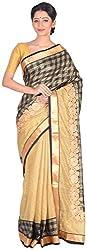 Sree Howrah Stores Women's Art Silk Saree with Blouse Piece (Black)