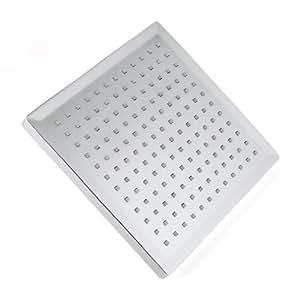 Auralum Design Duschkopf Rainshower Regendusche Duschbrause Handbrause Type Wählbar (LED Quadratische Regendusche)
