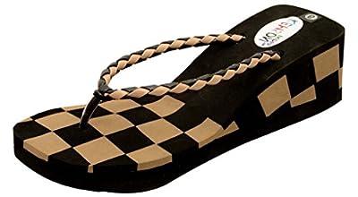 Remson India Women's Cream EVA Heeled Slip On Sandals