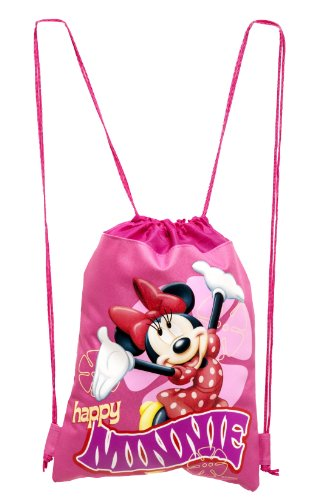 Disney Minnie Mouse Hot Pink Drawstring Backpack - 1