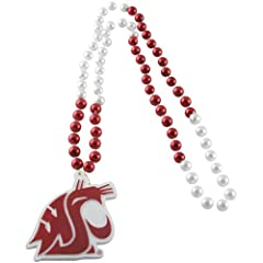 Buy NCAA Washington State Cougars Beads with Logo Medallion by Rico