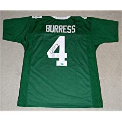 Signed Plaxico Burress Jersey - Msu #4 Coa - Autographed College Jerseys