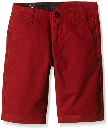 Volcom Pantaloni corti da uomo sfaccettati C0931402CMS, Ragazzo, Kurze Hose Faceted Shorts, crimson, 26