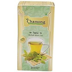 Chamong Tulsi Herbal Green Tea, 25 Tea Bags
