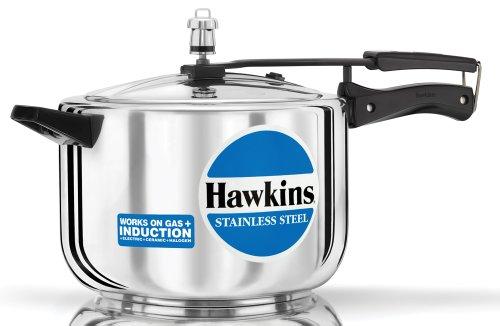 Hawkins B85 Stainless Steel Pressure Cooker, 8.0-Litre