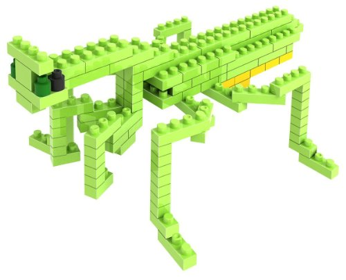 Loz Micro Blocks, Mantis Model, Small Building Block Set, Nanoblock Compatible (120 pcs), Makes a Great Stocking Stuffer