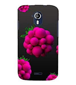 ANIMATED FLOWER IN A BLACK BACKGROUND 3D Hard Polycarbonate Designer Back Case Cover for Micromax Canvas Magnus A117