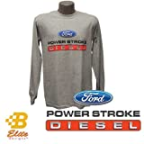 Ford Power Stroke Diesel Men's Long Sleeve Tee Sport Grey -BDFMST109