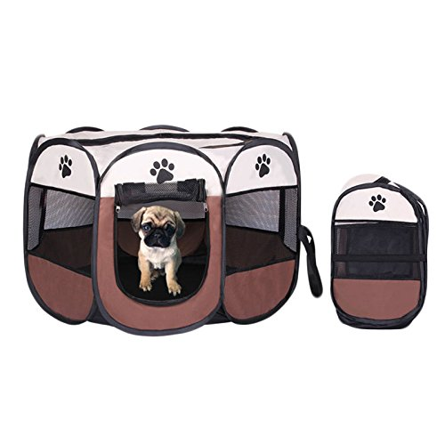 [Size S Portable folding pet tent and house dog fence breathable outdoor fun and sport] (Jovi Elf Costume Sale)