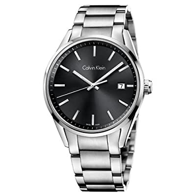 Jacob Time K4M21143 Calvin Klein CK Formality Stainless Steel Mens Watch - Black Dial