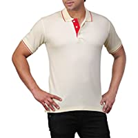 B&W Polo T-Shirt for Men (Cream) Large