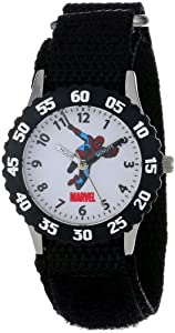 "Marvel Comics Kids' W000106 ""Time Teacher"" Stainless Steel Spider Man Watch"