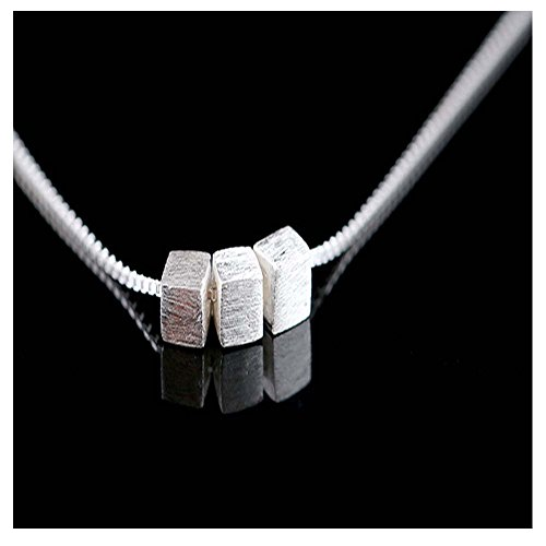 [Mr Rabbit Silver Planted Small Box Drawing Simple Fashion Clavicle Necklace] (Lord Of The Rings Child Arwen Costume)