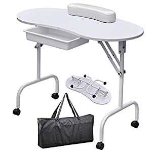World Pride Portable Manicure Table Nail Technician Desk Workstation With Bag & Wrist Rest