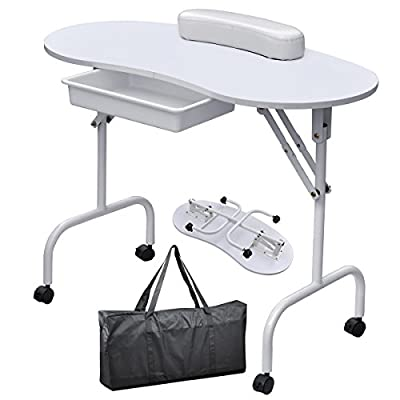 World Pride Portable Manicure Table Nail Technician Desk Workstation With Bag & Wrist Rest