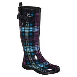 Product Image Women's Shiny Emma Plaid Printed Preppy Boot Multi