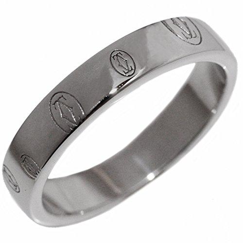 [カルティエ]Cartier K18WG ハッピーバースデイ ウェディングリング(ロゴカルティエ) 指輪(リング)(B40509) #49(9号) [中古]