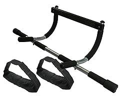 Wacces Multi-Function 3-In-1 Doorway Chin Pull Push Sit Up Bar Bonus Ab Strap