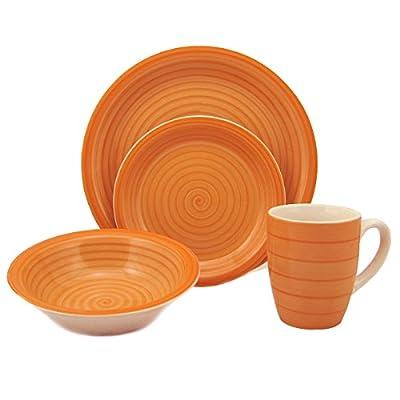 Lorren Home Trends Stoneware Dinnerware Set, 16-Piece