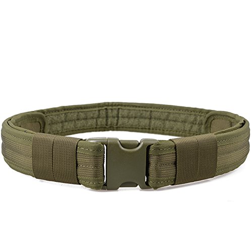 Triwonder Men's 1.5 Inch Tactical Heavy Duty Belt Combat Gear Utility Nylon Belt with Side Release Buckle (Green)