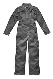 Dickies Redhawk Overall mit Reißverschluss- Front 60 grau
