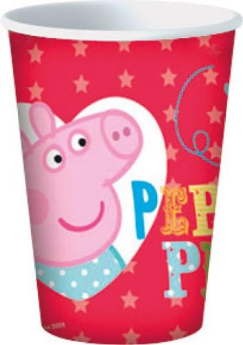 8 bicchieri in cartoncino Peppa Pig and George 20 cl