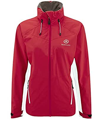 Henri Lloyd Women's Waterproof Windproof Breathable Sorrento Athletic Jacket,Medium,Red/Optical White