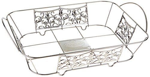 Hanna K. Signature 15100 Decorative Wire Pan Holder for 1/2 Aluminum Pan, Chrome