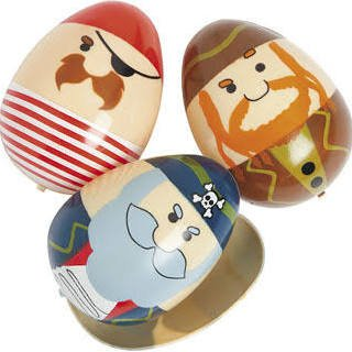 Plastic Pirate Easter Eggs - 1 dozen