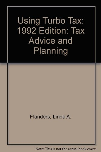 using-turbo-tax-1992-edition-tax-advice-and-planning