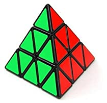WHC-TECH New Fashion Style Educational Toy Magic Cube Triangle Rubik Speed Cube Perfect Gift for Kids Children(Black)