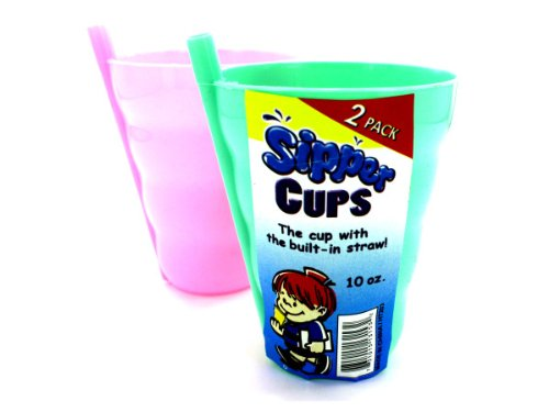 New - Sipper cup with built-in straw - Case of 24 by bulk buys
