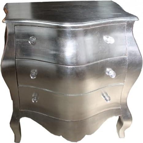 Casa Padrino Barock Kommode Silber 105 x 64 x 92.5 cm - Handgefertigtes Unikat