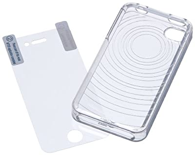 AmazonBasics Protective TPU Case with Screen Protector for AT&T and Verizon iPhone 4 and iPhone 4S (Clear)