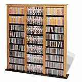 Prepac Oak Triple Barrister Media (DVD,CD,Games) Storage Rack