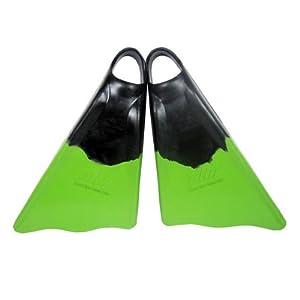 Ally Floating Swim Fins Blk/Grn Large (11-12.5)