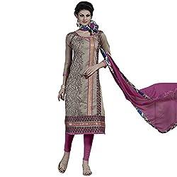 Price Bet Beige Chanderi Straight Fit Salwar Suit