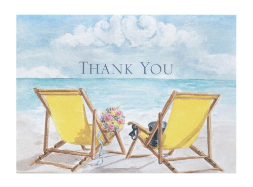 Hortense B. Hewitt Wedding Accessories Thank You Note Cards, Seaside Jewels, Pack of 50