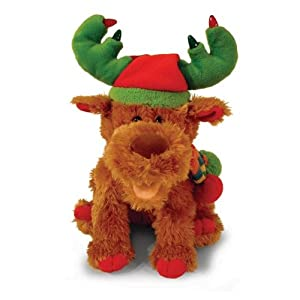Animated Plush Singing Christmas Holiday Moose / Reindeer - Sings It's the Most Wonderful Time of the Year
