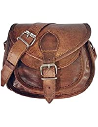 Leather Bag Genuine Women'S Crossbody Sling Bag 9 X 7 X 3 Inches Brown By Pranjals House