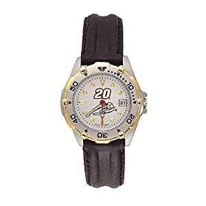 Tony Stewart Ladies Allure Black Leather Strap Watch by Logo Art