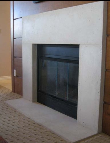 Plateau Precast Fireplace Mantel and Surround in Paint Grade Gypsum (Precast Fireplace Mantel compare prices)