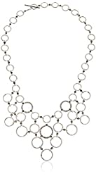 """Judith Jack """"Chain Reaction"""" Sterling Marcasite Drama Collar Necklace, 18"""""""