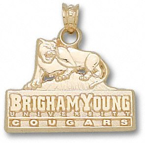 BYU Cougars Solid 10K Gold Primary Logo 5/8